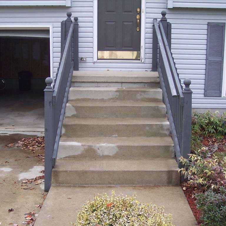 Concrete Step Repair Leveling Costs Examples More | Replacing Concrete Steps With Wood | Stringers | Stair Railing | Composite Decking | Pouring Concrete | Concrete Slab