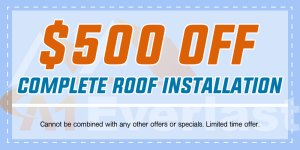 $500 Off Roof Installation by a Licensed Roofing Contractor