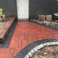 brick pavers in process