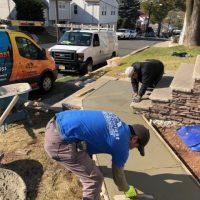 sidewalk and walkway concrete repair