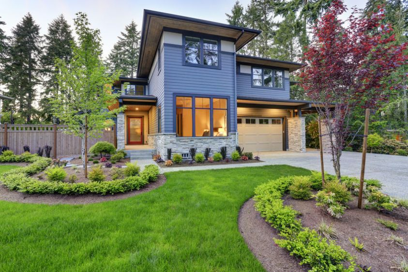 Luxurious home design with modern curb appeal