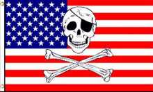 USA Pirate Flag - American Pirate Flag - Pirate Flags - USA Skull ...