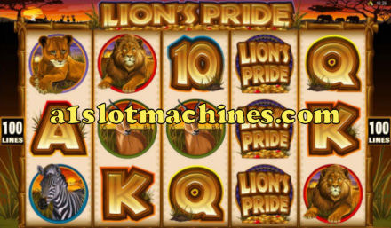 Lion's Pride Video Slot Machine Screen