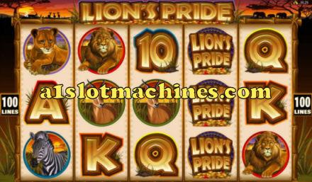 Lion's Pride Video Slot Machine Screen