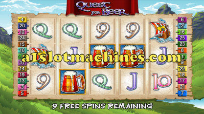Quest for Beer Video Slots - Bonus Free Spins