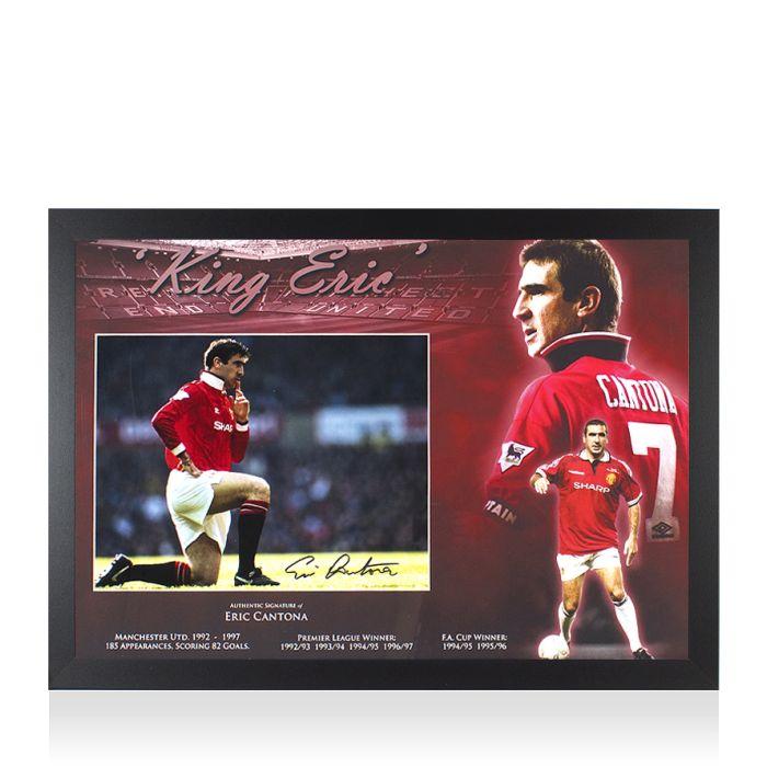 Il y a 7 ans. Framed Eric Cantona Signed Manchester United Photo Knee Down Celebration Black Pen Montage Framing Genuine Signed Sports Memorabilia