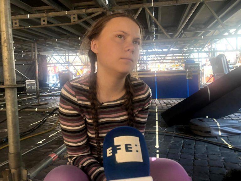 La activista sueca Greta Thunberg. EFE/Carla Riverola Brutau