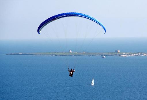 Vista aérea de Tabarca, desde la zona costera próxima al continente - JUAN CARLOS SOLER