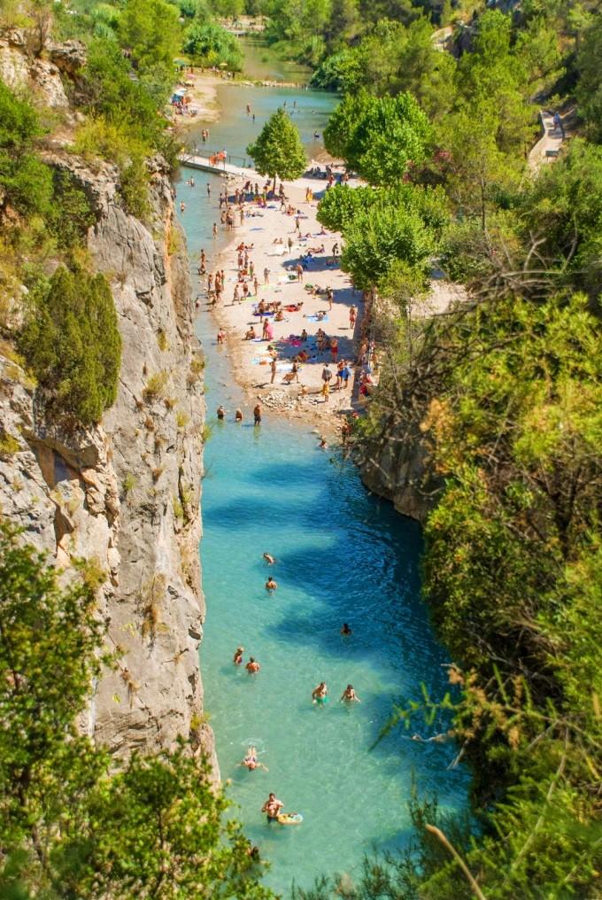 El río de Montanejos/ @castellon-en-ruta-cultural.es