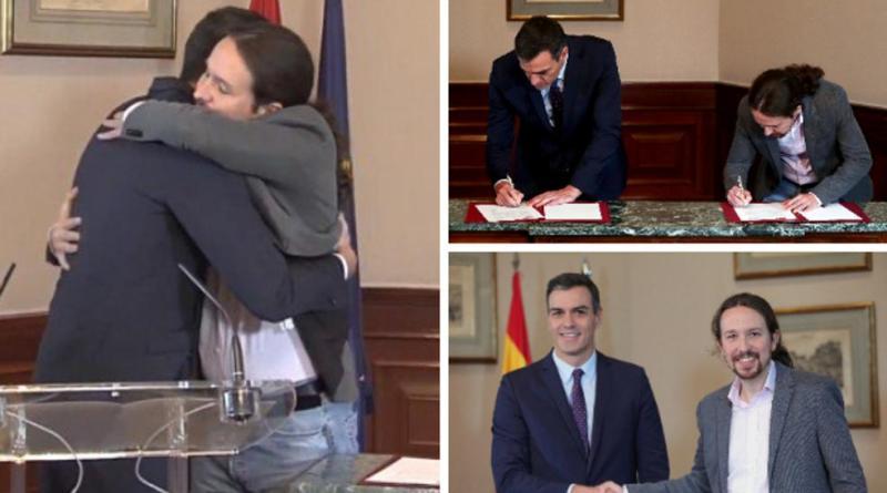 Sánchez e Iglesias cierran un preacuerdo para gobernar en coalición