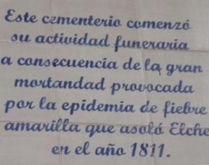 ELCHE – LA EPIDEMIA DE 1811