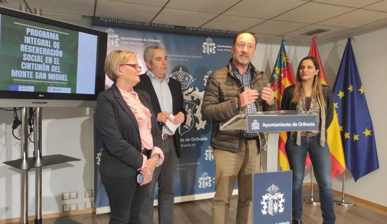 Orihuela pondrá en marcha el proyecto más importante de EDUSI apostando por la regeneración social en el Cinturón del Monte de San Miguel