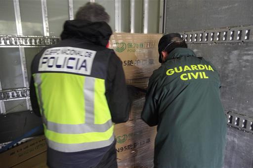 El Ministerio del Interior realiza un nuevo reparto de 1.125.000 mascarillas entre Policía Nacional, Guardia Civil e Instituciones Penitenciarias