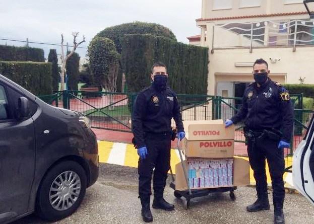 ELIS Villamartín dona equipamiento de protección frente al coronavirus al Ayuntamiento de San Miguel de Salinas