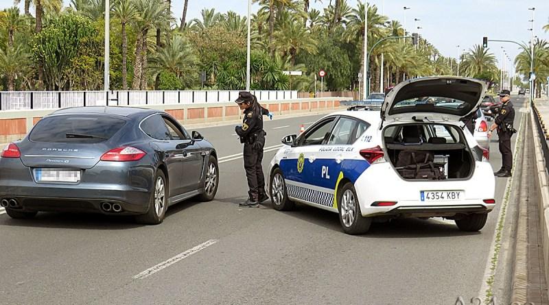 El resultado del control policial en la Comunidad Valenciana son 64 personas detenidas, 7.509 denuncias y 47.806 vehículos interceptados en los últimos cinco días