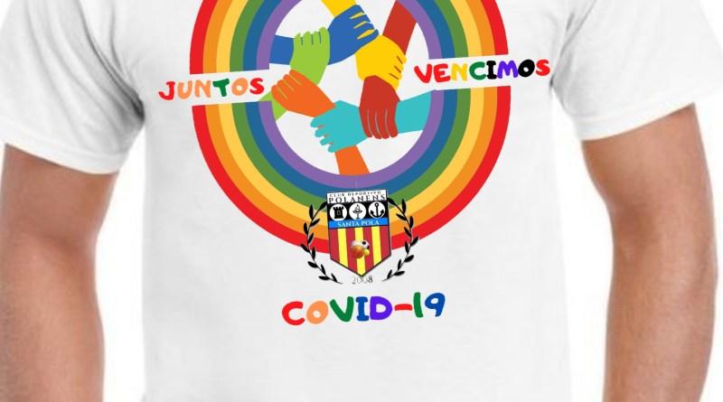 El CD Polanens  lanza una camiseta benéfica con el lema Juntos vencimos
