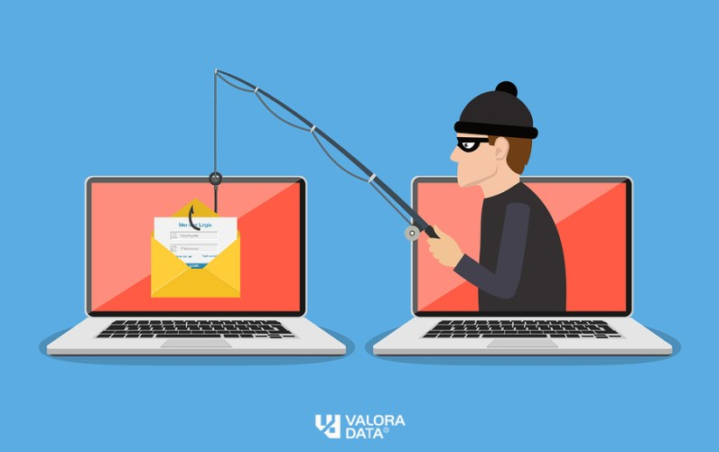 Login into account in email envelope and fishing hook. Phishing scam, hacker attack and web security concept. online scam and steal.