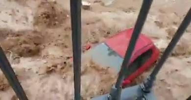 Una tromba de agua y granizo arrasa la localidad sevillana de Estepa