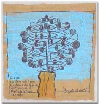 Boceto para un Juguete del viento Fundación César Manrique