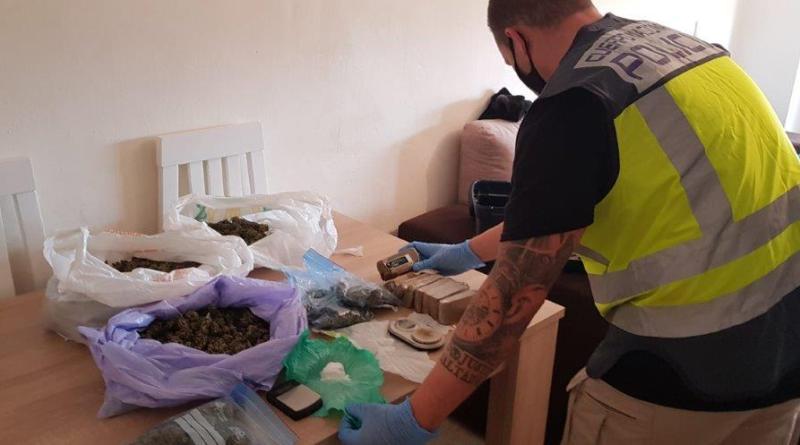 La Policía Nacional despliega un amplio dispositivo en la zona norte de Alicante y detiene a cinco personas por tráfico de drogas