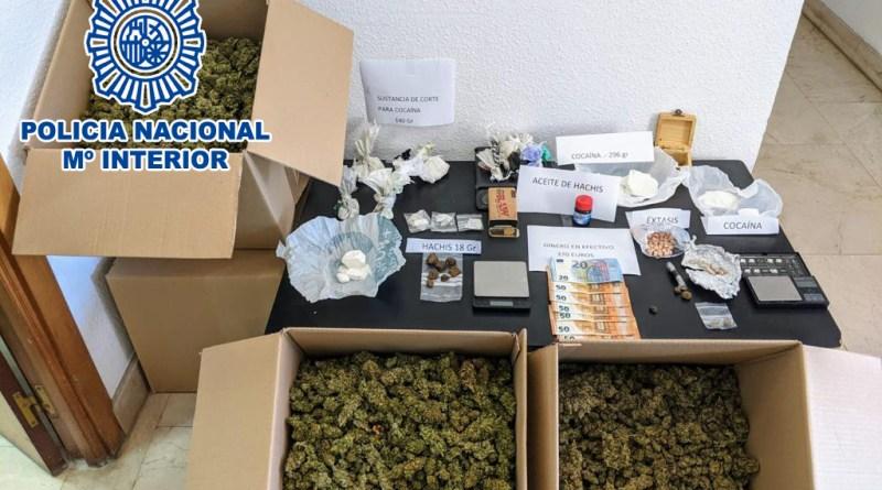 La Policía Nacional intensifica su actividad contra tráfico de drogas y el cultivo de marihuana en la ciudad de Alicante