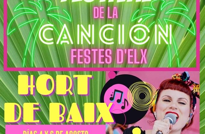"""El Primer Festival de la canción """"Festes d'Elx"""" celebrará la semifinal y la final los días 4 y 6 de agosto en el Hort de Baix"""
