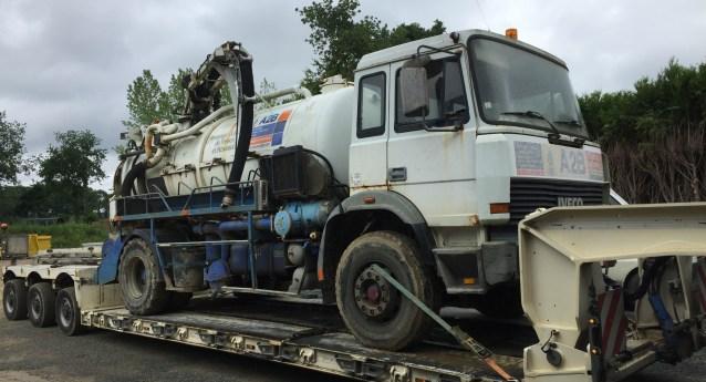 Premier camion de pompage d'A2B
