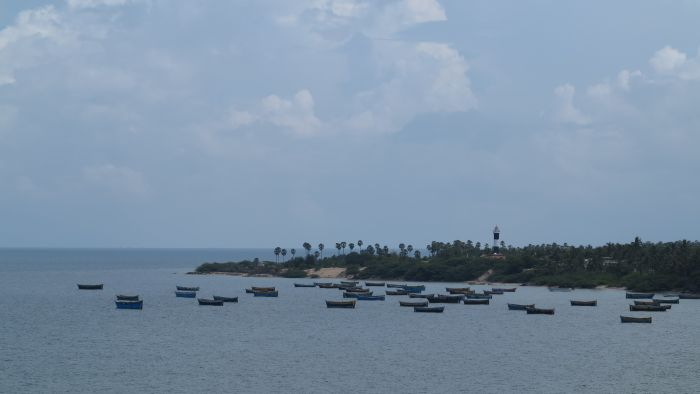 fishing boats in south india