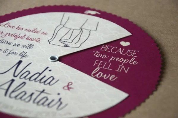DIY Wedding Invitation Wheel