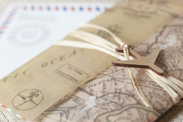 Travel Themed Wedding Invitation Cards