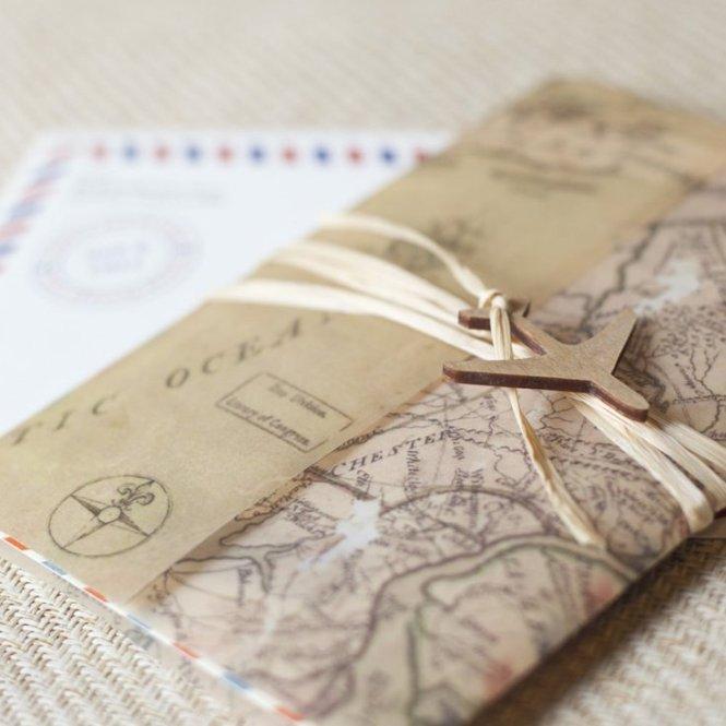 Travel Inspired Wedding Invitations