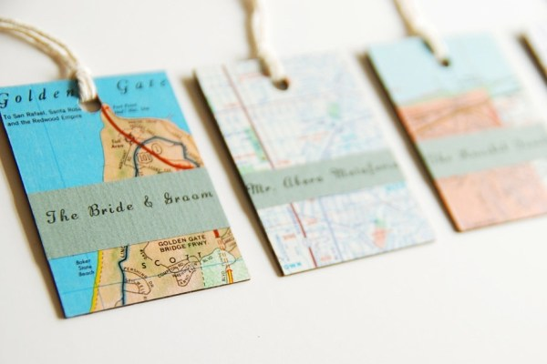 Map Travel Themed Wedding Invitation Cards