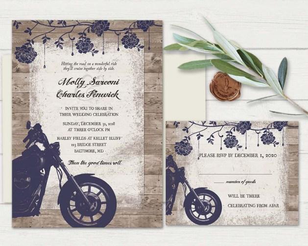 Biker Wedding Invitations: Audacious Motorcycle Wedding Invitations Can Change The