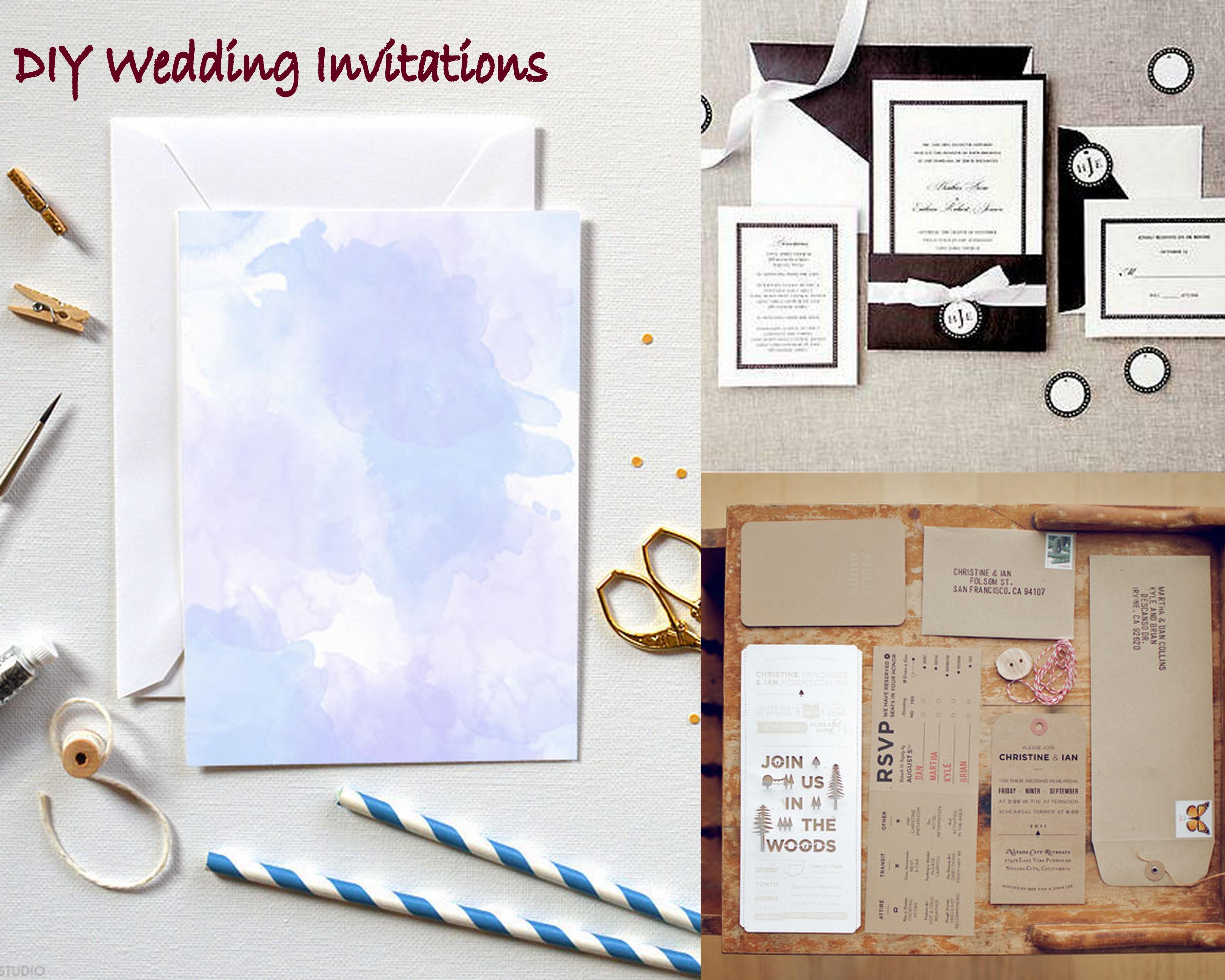 Homemade Wedding Invitation Kits Wedding Invitation Wording