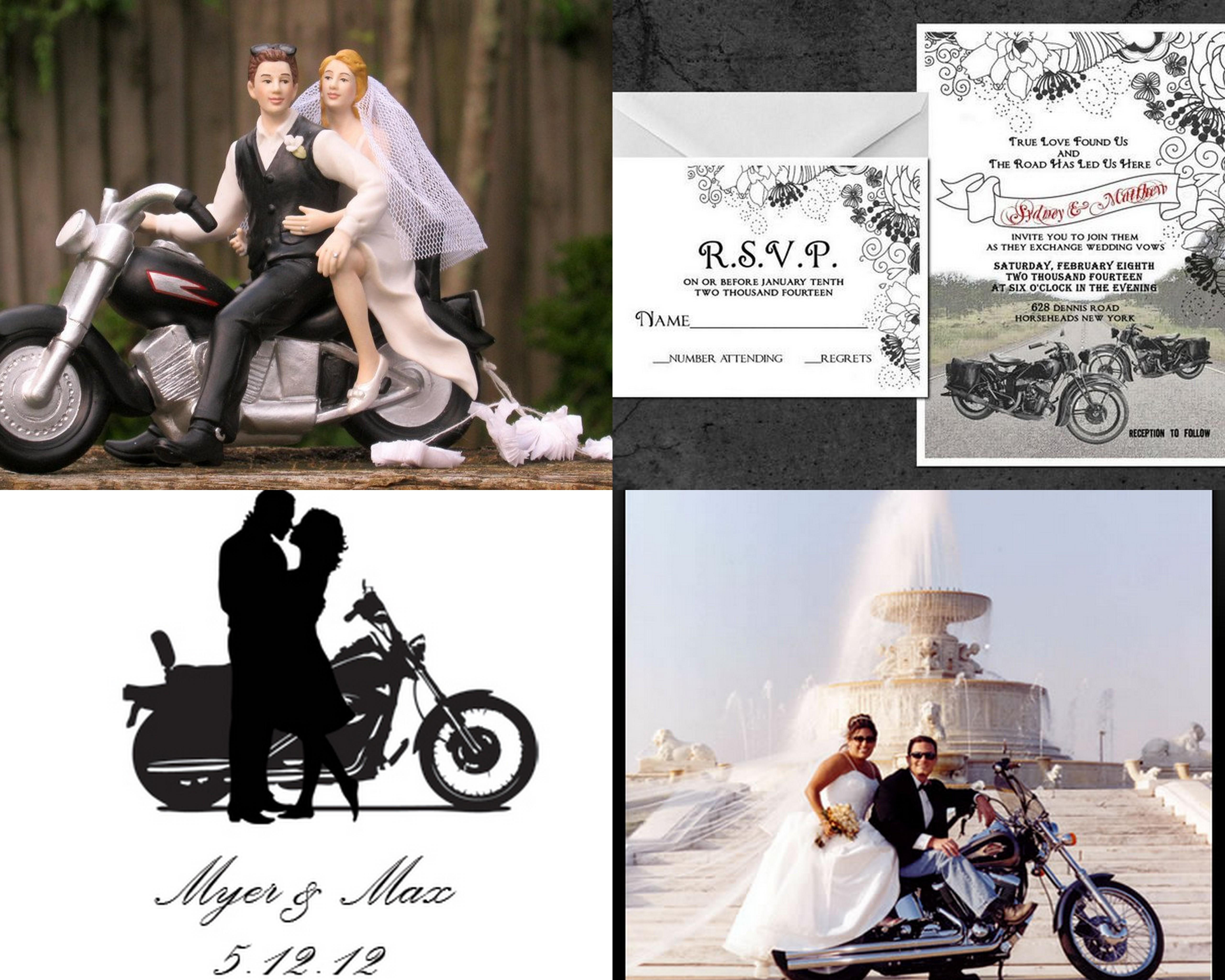 есть открытки на байкерскую свадьбу положила голову парню