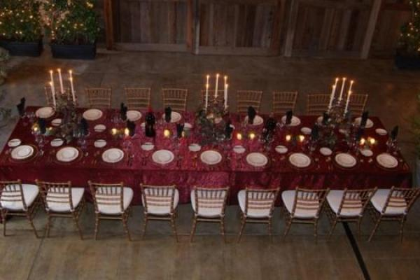 Marsala Theme Wedding Venue