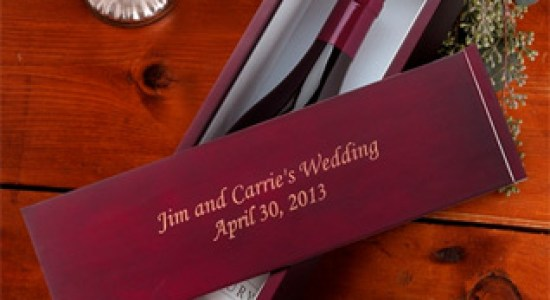 Marsala Theme Wedding Favors