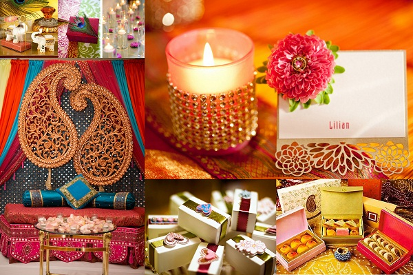 Indian NRI Wedding Favors and Centrepieces