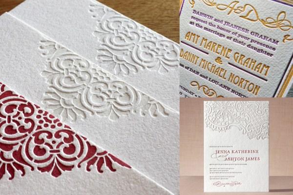 Letterpress Designing Wedding Invitation | A2zWeddingCards