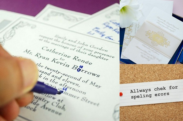 Wedding Invitation Correction and Invitation Style