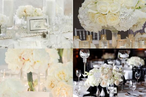 White Weddings Centrepieces - A2zWeddingCards