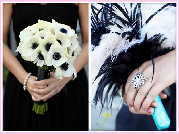 Black and White Wedding Flowers-A2zWeddingCards