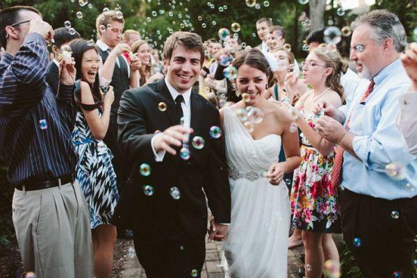 summer bubble wedding