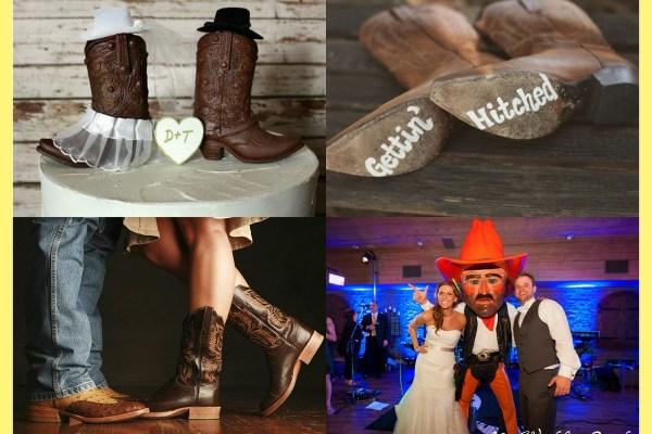 CowBoy Wedding Boots - A2zWeddingCards
