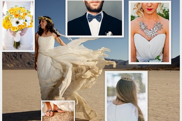 Desert Wedding Attire & Flowers - A2zWeddingCards