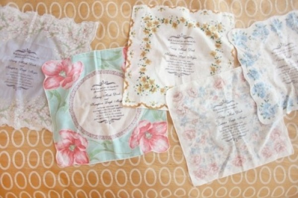 Handkerchief Wedding Invite - A2zWeddingCards