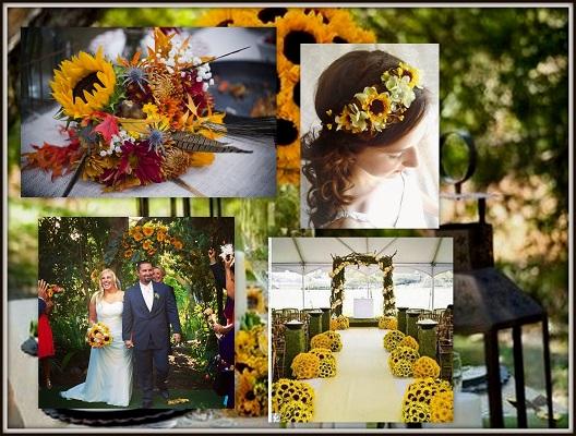 Sunflower Wedding Decor Ideas - A2zWeddingCards