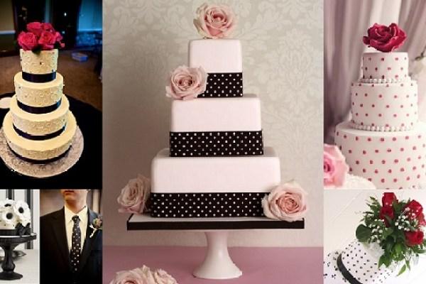 Polka dot Theme Wedding - Wedding Cakes -A2zWeddingCards