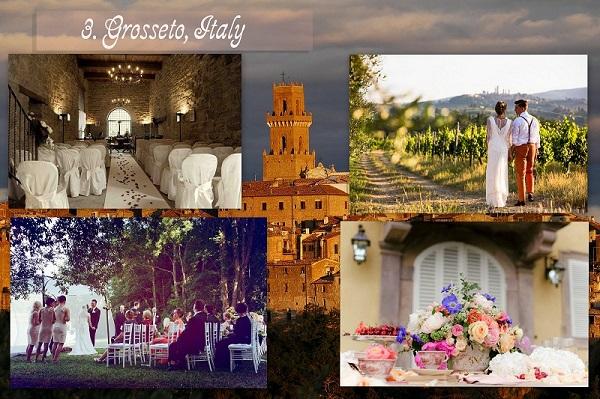 Cheapest Wedding Locations - Grosseto Italy - A2zWeddingCards