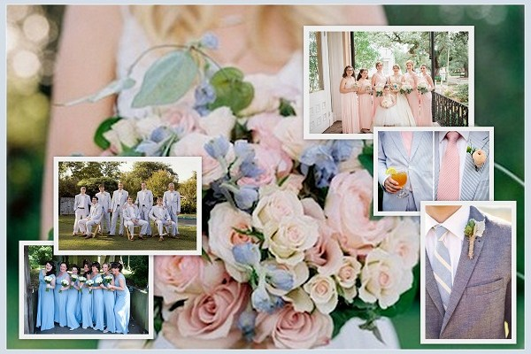 Pantone Inspired Spring Wedding Bridesmaid groomsmen Ideas 2016 - A2zWeddingCards